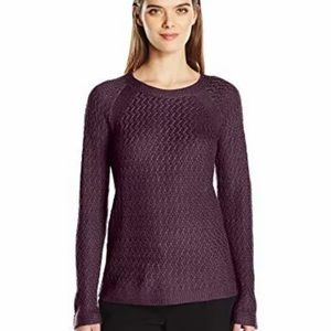 Jones New York purple knit pullover sweater